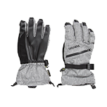 Gray and black mens gloves
