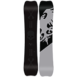 black and gray snowboard