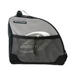 Gray and black skate bag