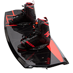 Black and red wakeboard