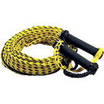 Black and yellow water ski rope