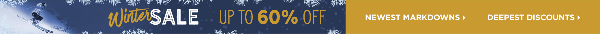 Winter Sale: Save up to 60%!