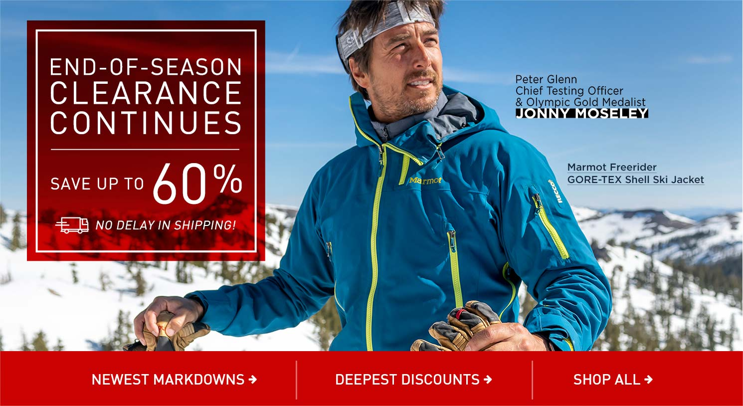 Save up to 60% Off End of Season Clearance